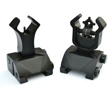 Rifle BUIS Back up Iron Sights 2 Piece Front and Rear Tactical Flip Up Picatinny