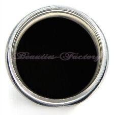 Decorazioni nero con glitter per unghie