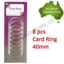 8 x Card Rings loose leaf Binder Ring Binders Scrap booking 40 mm Scrapbooking