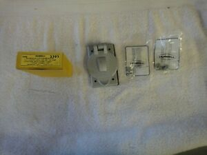 NIB HUBBELL Aluminum Lift Cover Plate for Wet & Damp Locations    3393  HBL3393