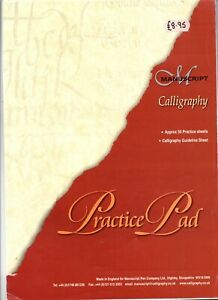 """MANUSCRIPT PEN CO. - A  """"  CALLIGRAPHY  PRACTICE  PAD """" (with Guide Sheet ) ."""