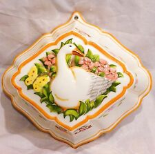 1986 Le Cordon Bleu hand painted goose wall plaque/jello mold The Franklin Mint