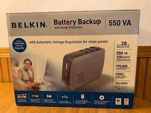 BELKIN F6C550-AVR Battery Backup UPS Surge 550VA 330W 120V 6-Outlet w Battery