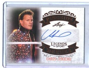 Chris Jericho #RH-CJ1 2015 Leaf Sports Heroes Authentic Autograph Card WWE