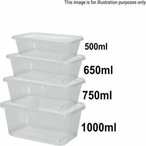 Food Containers With Lids Plastic Takeaway Microwave Freezer Safe Storage