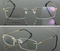Mens Eyeglass Frames Spectacles Rimless Light Weight Titanium Alloy Rx Frames