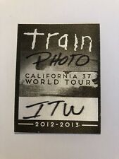 Train 2012-2013 California 37 World Tour Concert Photo Media Pass