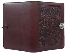 """THISTLE Oberon Design Leather Journal 5""""x7"""" Small Wine-Brown refillable JSA12"""