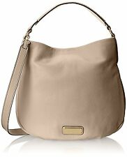 NWT Marc by Marc Jacobs New Q Hillier Convertible Leather Hobo Bag - Papyrus