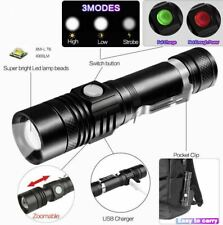LED Tactical Flashlight Zoomable With Rechargeable Battery Super Bright 90000LM