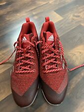 Adidas Men's Power Alley 5 Low Metal Baseball Cleats B39182 Red Size  12