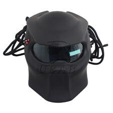 Black Matte/LED Unique Iron Full Face Helmet Cool Predators Mask Fiberglass