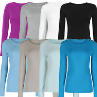 Marks & Spencer Womens Pure Cotton Long Sleeve Crew Neck New M&S T Shirt Top Tee