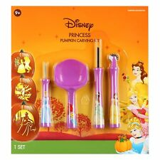 New ! Disney Princess Halloween Pumpkin Carving Kit 4 Tools 7 Patterns