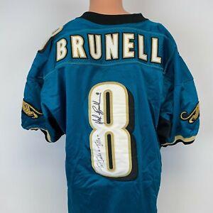 Wilson Authentic Mark Brunell Jacksonville Jaguars Autograph Jersey Vtg 90s 48