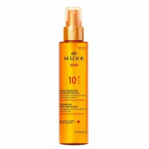 Nuxe Sun Tanning Oil for Face and Body SPF10 150ml