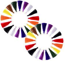 10 x Mini COTTON SILKY TASSELS FRINGE Feather Jewellery Boho Earrings Necklace