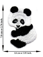 Panda Animal Bear Cute Zoo Iron On Patch Embroidered Applique Crafts Sew DIY
