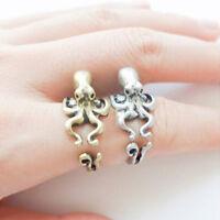 ALS_ Women's Men's Trendy Adjustable Octopus Ring Animal Knuckle Ring Fashion Je