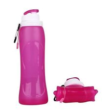 500ml Collapsible Folding Silicone Drink Water Bottle Kettle Travel Sports Hot