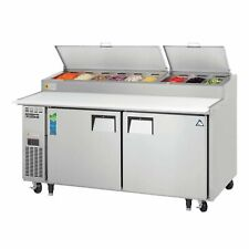 Everest Eppr2 71 Two Section Refrigerated Pizza Prep Table 230 Cu Ft