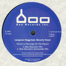LANGSTON HUGG - There's A Message (In The Music), Feat. Beverly Feest Boo Record