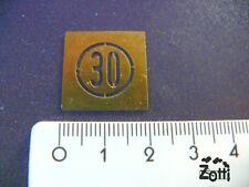 Zone 30-Markierung, Messing-Lackier-Schablone für die Spur Z