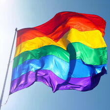 Rainbow Flag Large 3ft x 5ft Lesbian Gay Pride LGBT Festival Banner Hot Spot FAB