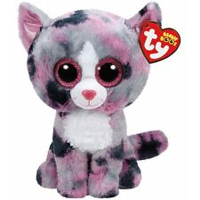 Ty Beanie Boos Regular Lindi The Pink Cat 15cm Bday May 17