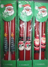 6 er Pack Weihnachtskerzen Spitzkerzen rot mit Motiv 3 x 2er Sparpack   95069788
