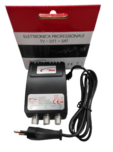 Alimentatore retro TV Stabilizzato 12v 150mA  DTT DVB-T HDTV Led AL/150 2 uscite
