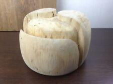 Vintage Wooden Hat Block Hat Form Russian Ushanka Solid Wood Cap Shape Mold