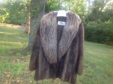 The Fur Center silver fox fur coat dark chocolate color
