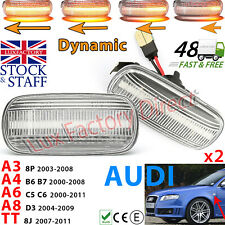2x Audi A3 S3 8P A4 A6 TT Dynamic LED Sequential Side Indicator CLEAR LUXFACTORY