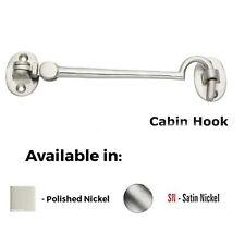 Cabin Hook -100mm Polish Nickel-Satin Nickel