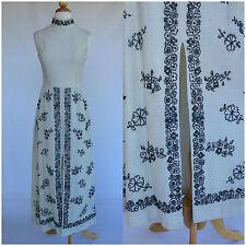 Vintage 1960s White Silver Evening Gown Metallic Evening Hippie Mod
