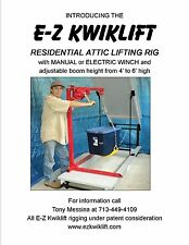 ezkwiklift is an attic lift system for lifting items into and out of an attic