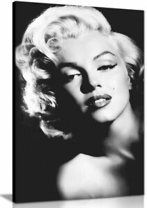 Marilyn Monroe Print Black And White Canvas Wall Art Picture Print