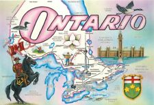 Picture Postcard> Ontario, Map