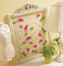 Wallies ROSES AND DAISIES wall stickers 25 prepasted decals leaves flower garden