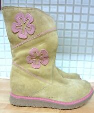 Russell & Bromley Girls Suede Leather Zip Tan Boots Size 10/28 Made in Italy