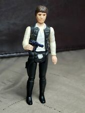 Vintage Star Wars figures -  Big Head Han Solo Complete with Repro Blaster
