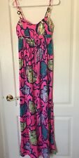 NEW Lilly Pulitzer Pink Spaghetti Women's Dress Summer Spring Pink Outfit Sz 2