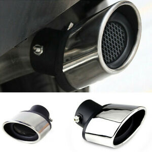 63MM Car Exhaust Pipe Muffler Tip Tail Throat Stainless Steel Easy Installation