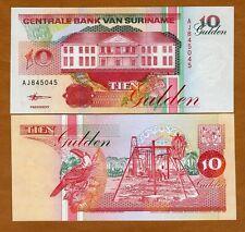 Suriname /  Surinam, 10 Gulden, 1998 Pick 137 (137b) UNC