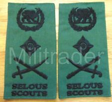 Rhodesia Rhodesian Army Selous Scouts General Epaulets