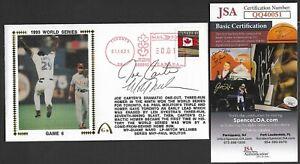 Joe Carter & Mitch Williams JSA Signed 1993 World Series Gateway Stamp Cachet