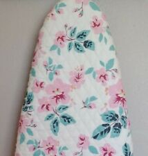 Ironing board cover, quilted double sided fabric, new, padded, Pink/ teal floral
