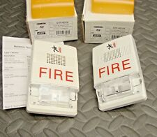 2 Lot NEW Genesis G1F-HDVM Fire Alarm Multi CD Horn Strobe White 24 Volt DC CC
