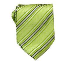 Necktie Neck Tie D.berite Men Green Striped Polyester Fashion Wedding Groom G334